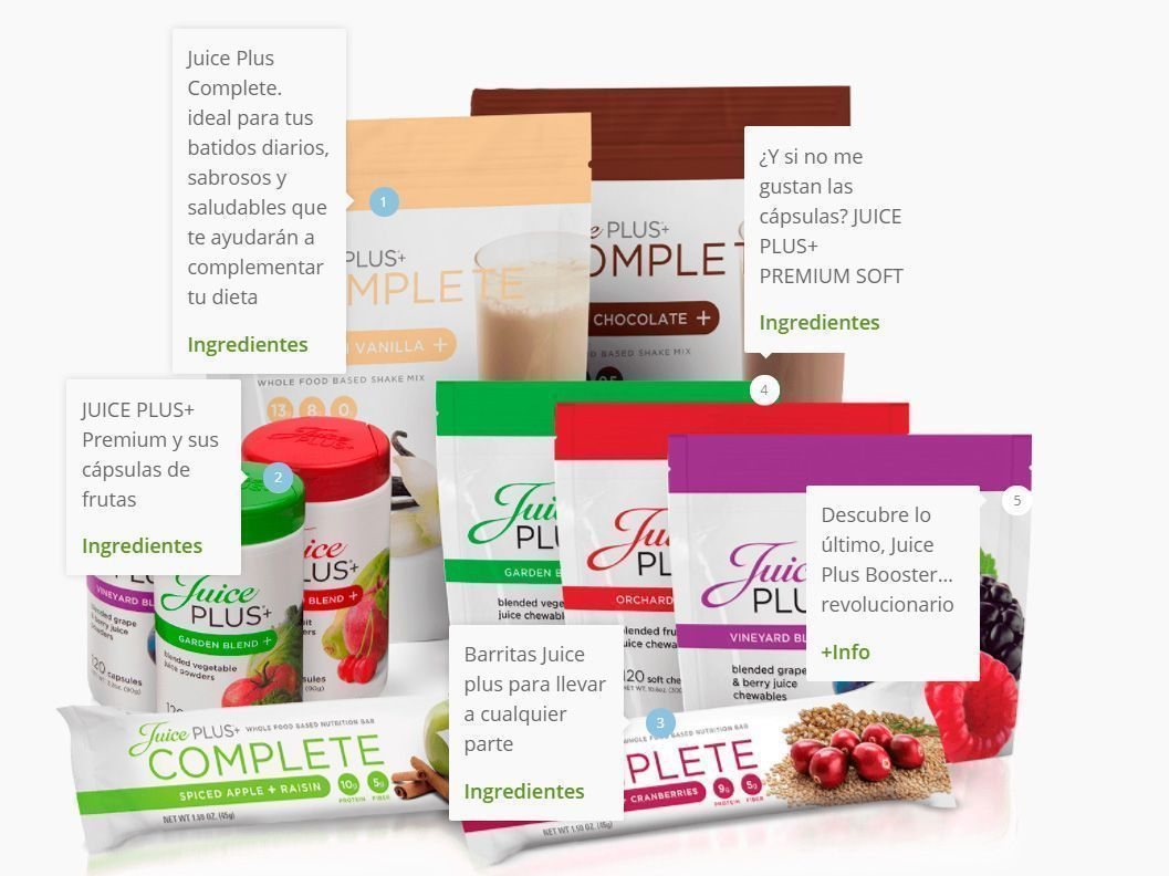 productos juice plus
