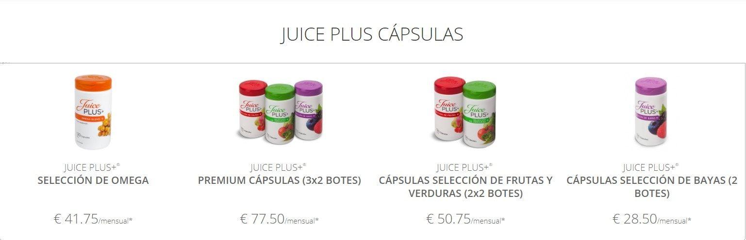 capsulas juice plus