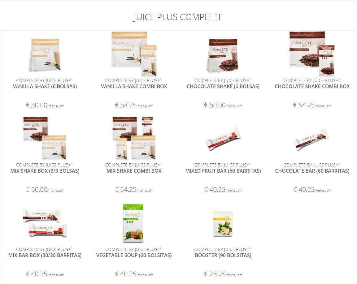 productos juice plus